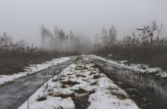 Low Angle Photo of Road With Snow Stock Photography