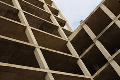 Low angle photo wood building structure royalty free stock image