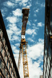 Low Angle Photo of Yellow Crane Stock Images