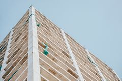 Low Angle Photography of Beige Concrete Building Stock Image