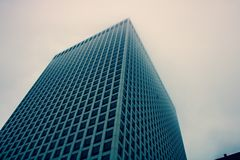 Low Angle Photography of Blue Building Stock Photography