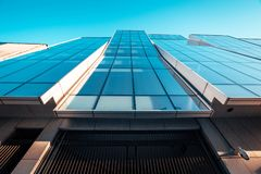 Low Angle Photography of Blue Glass Building Royalty Free Stock Images