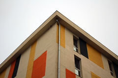 Low Angle Photography of Brown and Red Concrete Building Stock Images