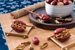 Jujube walnut and jujube stock images