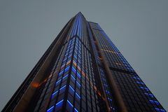 Low Angle Photography of Lighted High Rise Building Stock Images