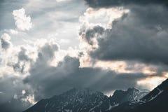 Low Angle Photography of Sky Near Mountain Royalty Free Stock Photo
