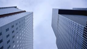Low Angle Photography of Skyscrapers Against Sky Stock Image