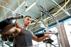 Handsome Young Man in Gym Stock Images