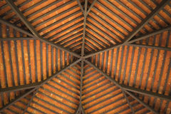 Low angle roof pavilion in the park. Royalty Free Stock Photos