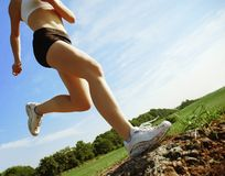Low Angle Runner Royalty Free Stock Photography