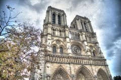 Low Angle Shot of the Cathedral Royalty Free Stock Photography