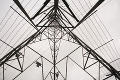 Low angle shot of Electricity Pylon Royalty Free Stock Photo