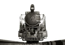 Free Low Angle Shot Front Of Steam Locomotive Pacific On The Tracks. Stock Images - 113378154