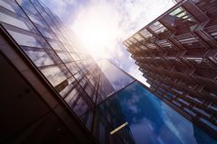 Multiple office towers Stock Images