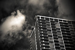 Low Angle Shot of High Rise Building in Grayscale Photography Royalty Free Stock Photos