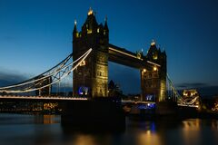 Free Low Angle Shot Of The Tower Bridge In The UK Stock Photography - 196560052