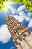 Low angle shot of Pisa tower Stock Photography