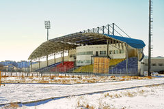 Low angle shot of a sport stadium from Kazakhstan Stock Photos
