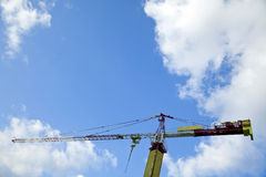 Tower Crane & Cloudy Sky Stock Photo