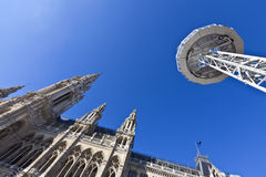 Low angle shot of the Vienna City Hall Royalty Free Stock Photo