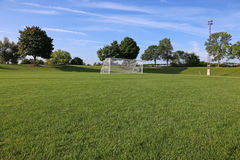 Low Angle Soccer Field Stock Image