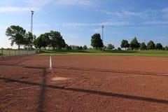 Low Angle Softball Field Stock Photography