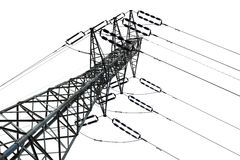 Isolated Electricity Pylon Stock Images