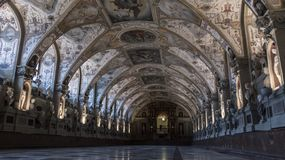Low-angle view of the Antiquarium hall, in München Residenz royalty free stock photo
