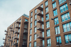 Low angle view of apartments with balconies Royalty Free Stock Images