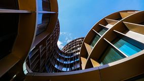 Axel Towers Copenhagen. A low angle view of the Axel Towers in Copenhagen, Denmark stock photo