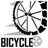 Low angle view of bicycle vector icon Royalty Free Stock Photo