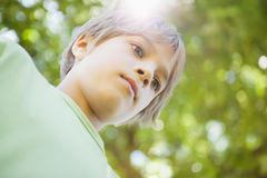 Low angle view of a boy at park Stock Image