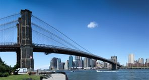 Low angle view of a bridge, Brooklyn Bridge, New York City, New Royalty Free Stock Photo