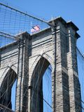 Low angle view of a Brooklyn bridge, New York City, New York Sta Royalty Free Stock Images