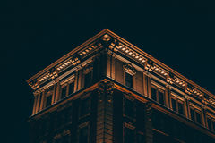 Low Angle View of Building Against Sky at Night Royalty Free Stock Photos