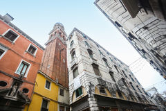 Low angle view of buildings in Venice Stock Images
