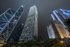 Low angle view of business buildings in Hong Kong Royalty Free Stock Photography