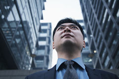Low angle view of businessman outdoors in Beijing Royalty Free Stock Photo
