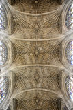 Low Angle View of Ceiling in Kings College Chapel Stock Photography