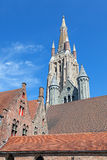 Low angle view of the Church of our lady Royalty Free Stock Photo