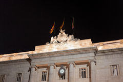 Low angle view of a city hall, Placa Sant Jaume Royalty Free Stock Photography