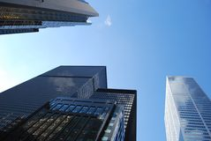 Low angle view of city skyscrapers Stock Photography