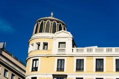 Low angle view of classic residential building royalty free stock image