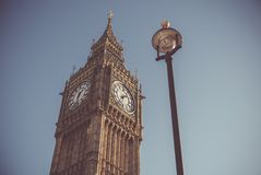 Low Angle View of Clock Tower Stock Images