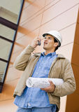 Low angle view of construction worker Stock Images