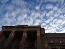 Low angle view of courthouse in America& x27;s Capitol at Sunrise Royalty Free Stock Photos
