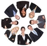 Low angle view of diverse group of business people Royalty Free Stock Photography