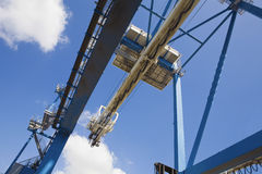 Low Angle View Of Dockside Crane Royalty Free Stock Images