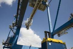 Low Angle View Of Dockside Crane Stock Photography