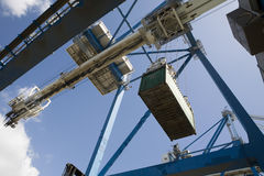 Low Angle View Of Dockside Crane Stock Image